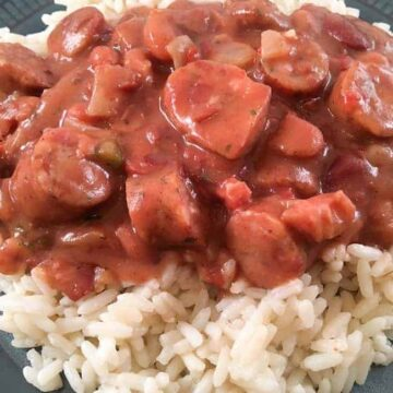 Red Beans and Rice with Sausage mykitchenserenity