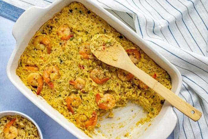 Easy Shrimp and Rice Casserole