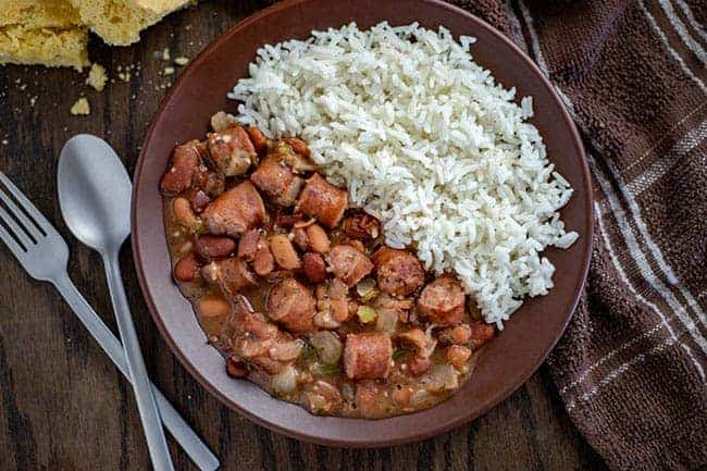 Easy Red Beans and Rice with Sausage