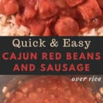 red beans and sausage over rice