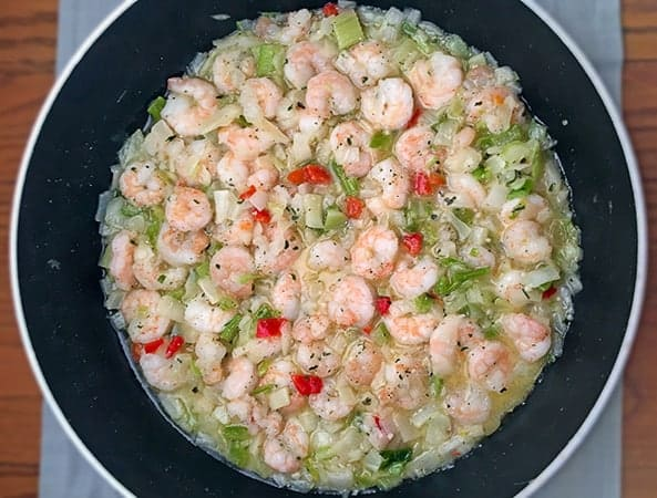 sauteed shrimp and trinity