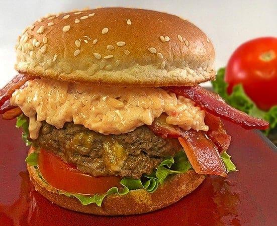 Cheesy Stuffed Burgers