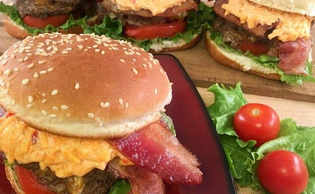 Blue Cheese Stuffed Hamburgers