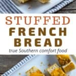 stuffed french bread recipe pin