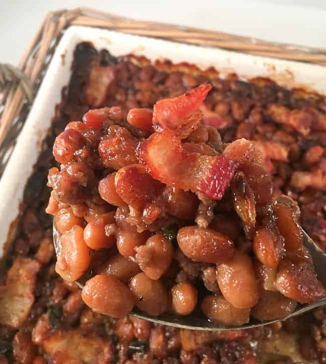 best baked beans with bacon mykitchenserenity
