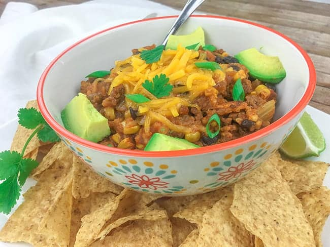 Easy Crock Pot Mexican Casserole