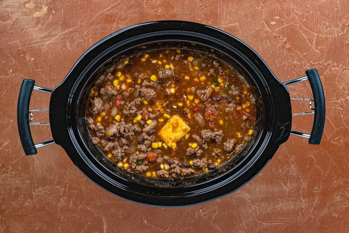 ingredients in crockpot before cooking