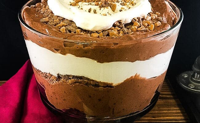 Chocolate Trifle with Brownies and Toffee