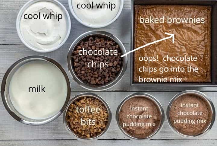 trifle-ingredients on counter