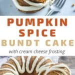 pumpkin spice cake recipe pin