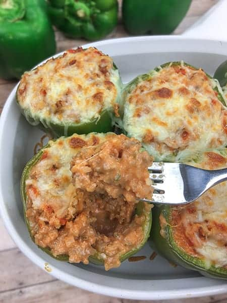 stuffed bell peppers from My Kitchen Serenity
