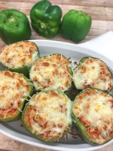 cauliflower rice stuffed bell peppers from My Kitchen Serenity