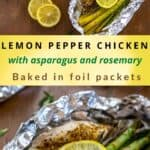 LEMON PEPPER CHICKEN FOIL PACKETS RECIPE PIN