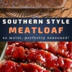 southern meatloaf recipe pin