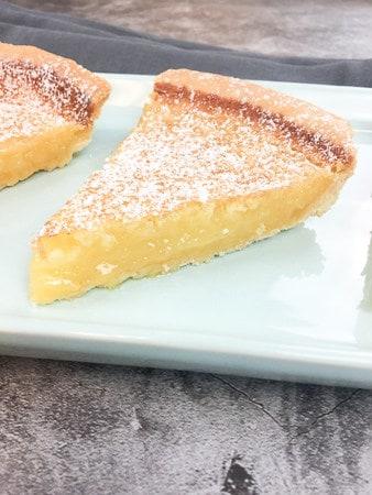 slice of lemon chess pie by My Kitchen Serenity