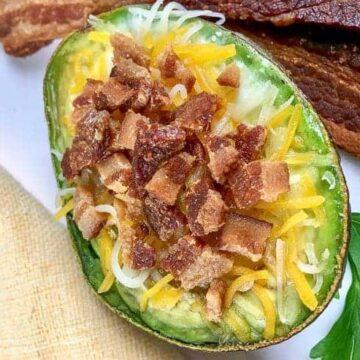 Bacon, Egg, and Cheese Avocados