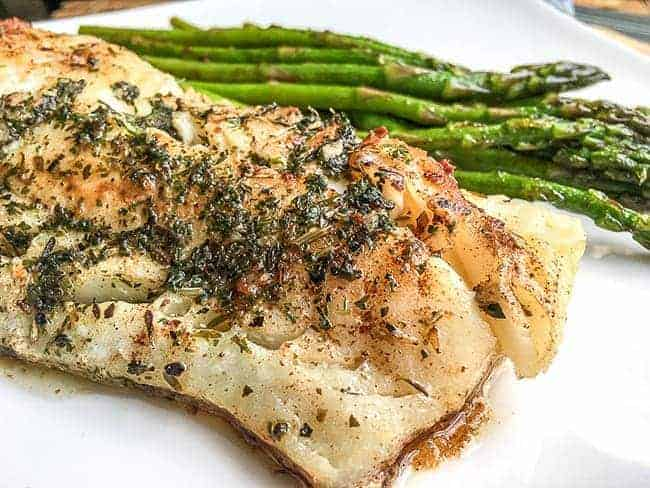 Easy Cod with Garlic Herb Butter