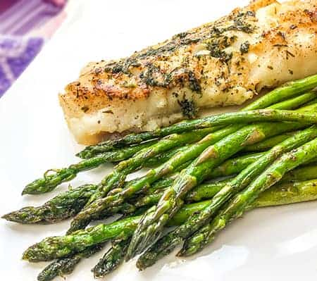 baked cod with garlic-herb butter