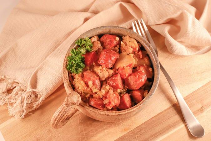 bowl of keto jambalaya