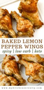 lemon pepper wings on white plate