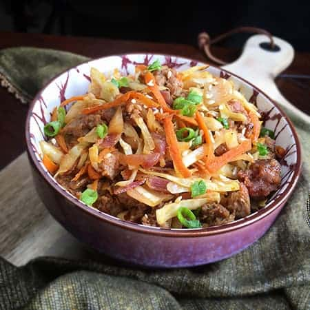 Healthy Egg Roll in a Bowl My Kitchen Serenity