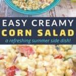 summer corn salad recipe pin