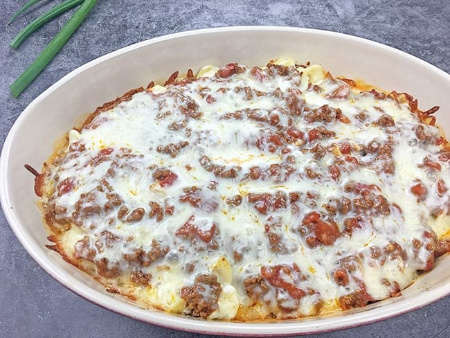Baked Beef and Noodle Casserole