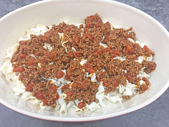 Layer 2 Ground beef mixture