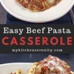 easy beef pasta casserole