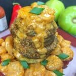 fried green tomatoes topped with creole shrimp sauce My Kitchen Serenity