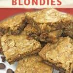 cooked blonde brownie squares
