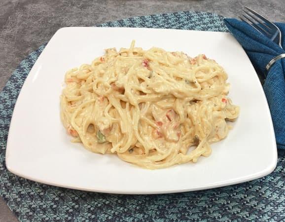 Easy Rotel Chicken Spaghetti