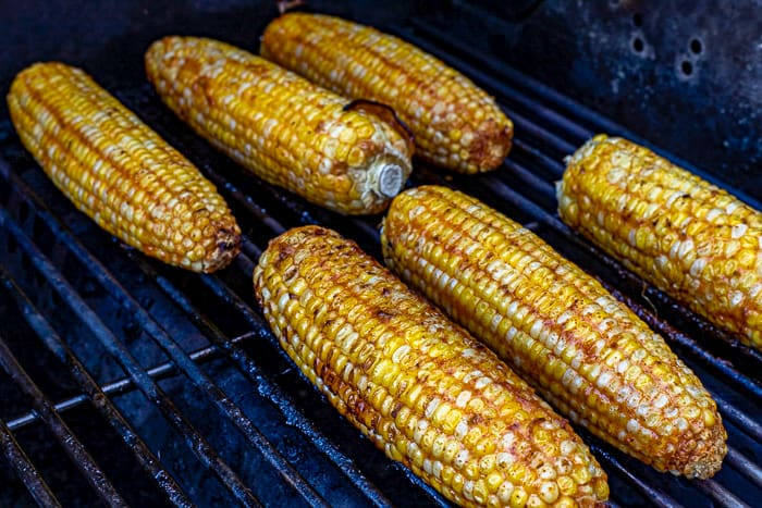 corn on the cob on hot grill