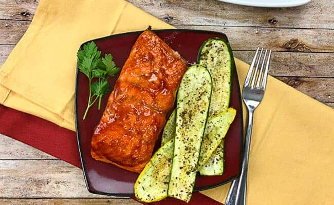 Easy Grilled Salmon with BBQ Sauce
