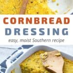 cornbread dressing recipe Pinterest Pin