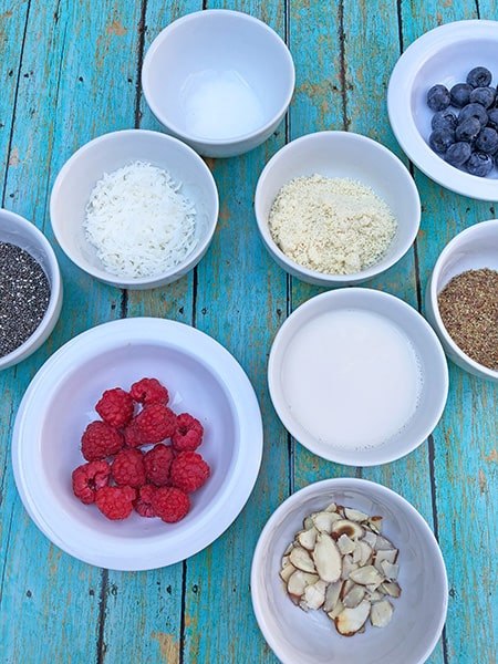ingredients for low carb oatmeal recipe