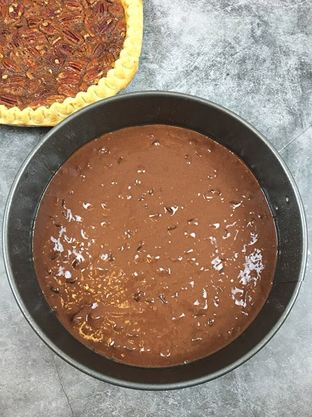 Pecan Pie Caken layer 1