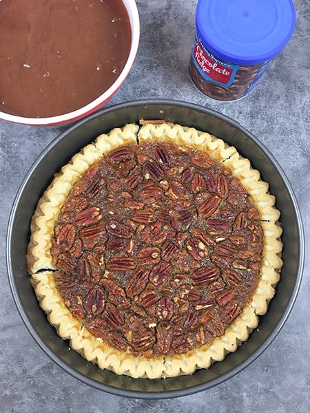 Pecan Pie Caken layer 2