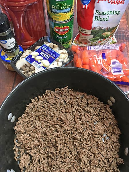 ingredients for hamburger soup