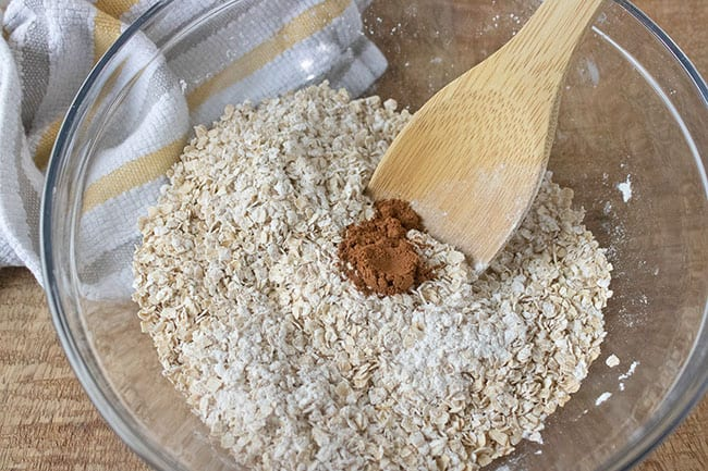 combine dry ingredients with wet ingredients