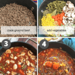collage of recipe steps