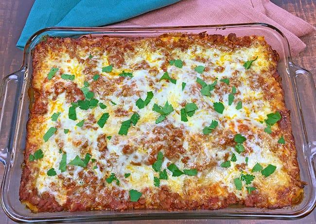 Easy Meat Lasagna