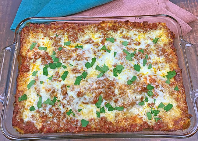 baked easy meat lasagna