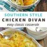 chicken and broccoli divan recipe pin