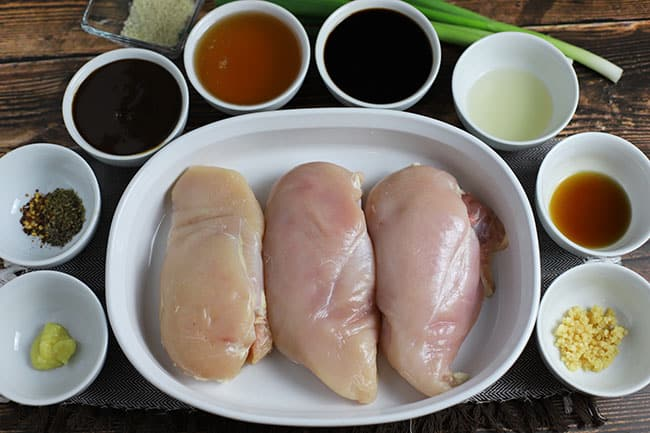 honey garlic chicken ingredients