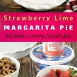 strawberry lime pie recipe pin