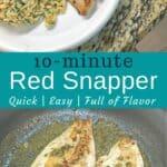 easy snapper recipe pin