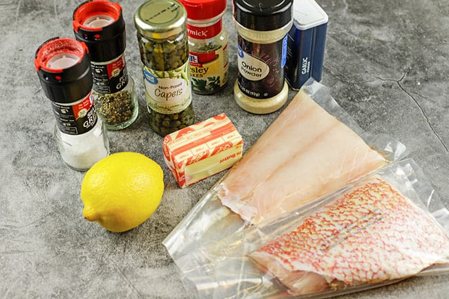 ingredients for fish fillets