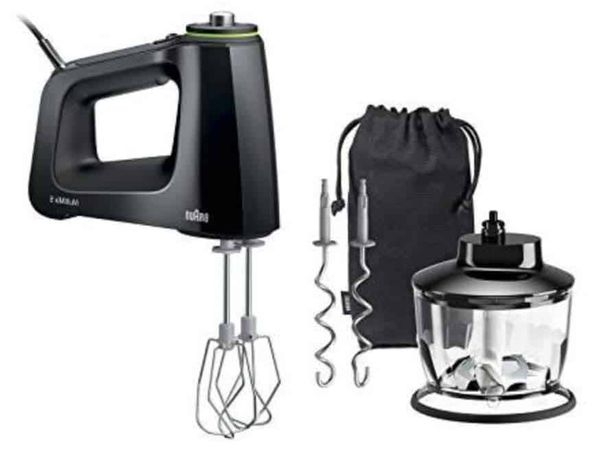 picture of black braun hm5130 hand mixer
