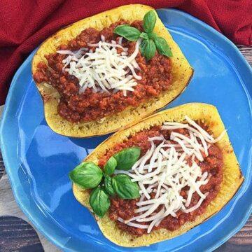 Stuffed Spaghetti Squash Boats